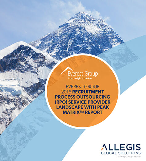 Snow-capped Mountain Peaks - For Everest Group 2016 Recruitment Process Outsourcing (RPO) Service Provider Landscape with Peak Matrix Report