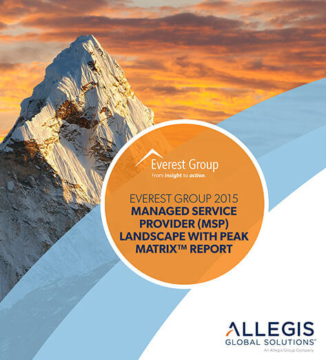 Single Mountain Peak with Sunset Sky Background - For Everest Group 2015 Managed Service Provider (MSP) Landscape With Peak Matrix Report