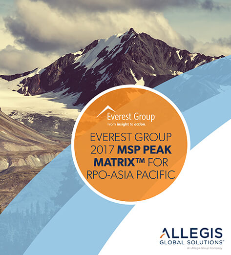 Mountain Peak with Snow Spread Here and There on It - For Everest Group 2017 MSP Peak Matrix For RPO-Asia Pacific