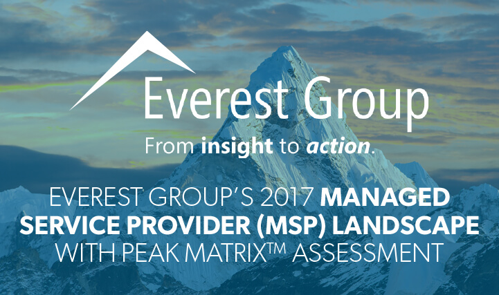 Close Up of Mountain Peak Sunset Sky in The Background - For Everest Group's 2017 Managed Service Provider (MSP) Landscape with Peak Matrix Assessment.