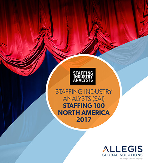 Raised Curtains on a Stage - For Staffing industry Analysts (SAI) Staffing 100 North America 2017