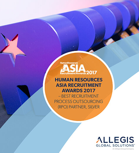 Customized Lettering  - Human Resources Asia Recruitment Awards 2017.