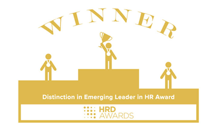 Awards In The Background - For HRD Awards 2018 Emerging Leader in HR Award.