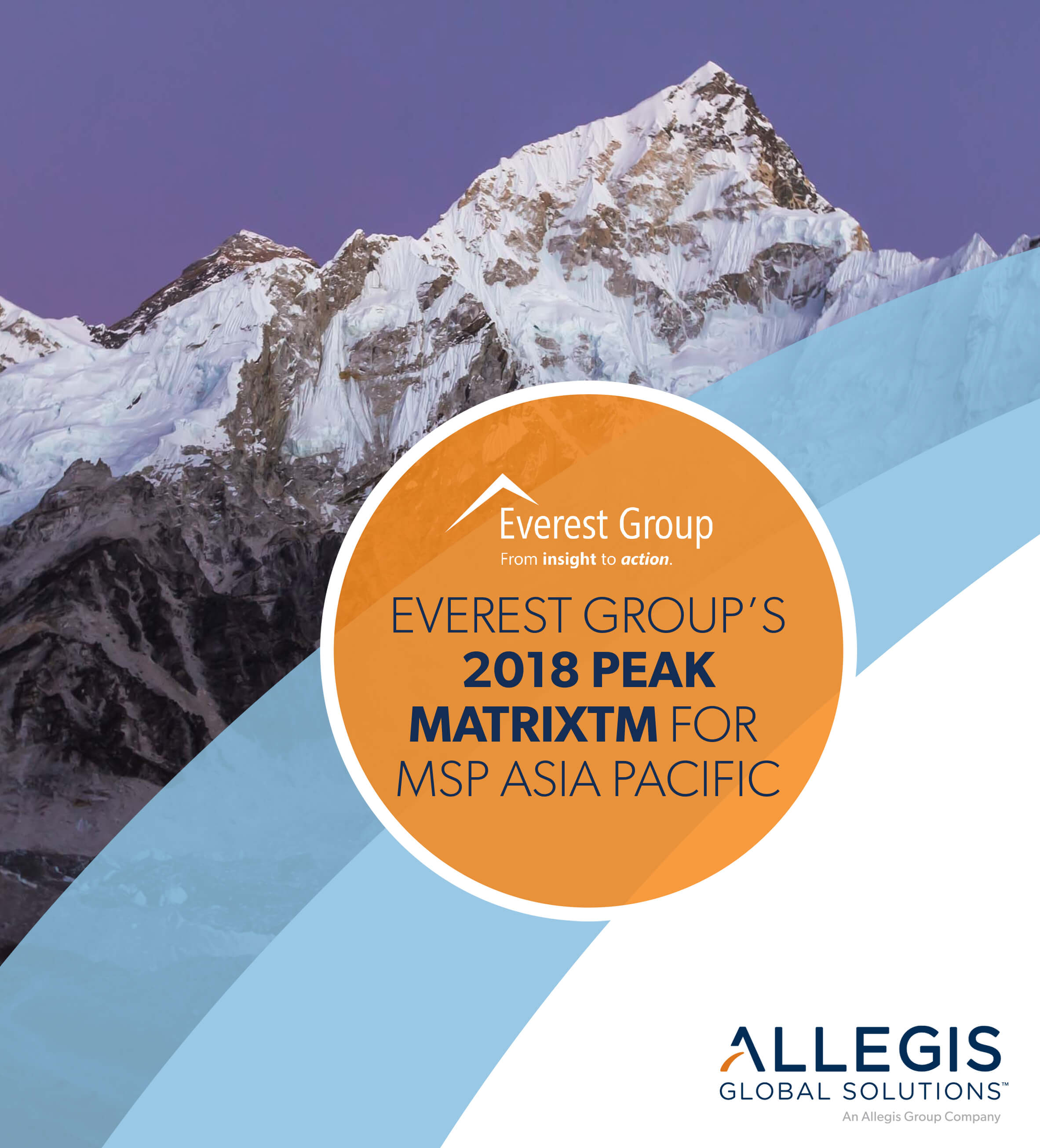 Mountain Peaks with Snow Caps - For Everest Group's 2018 Peak Matrix For MSP Asia Pacific