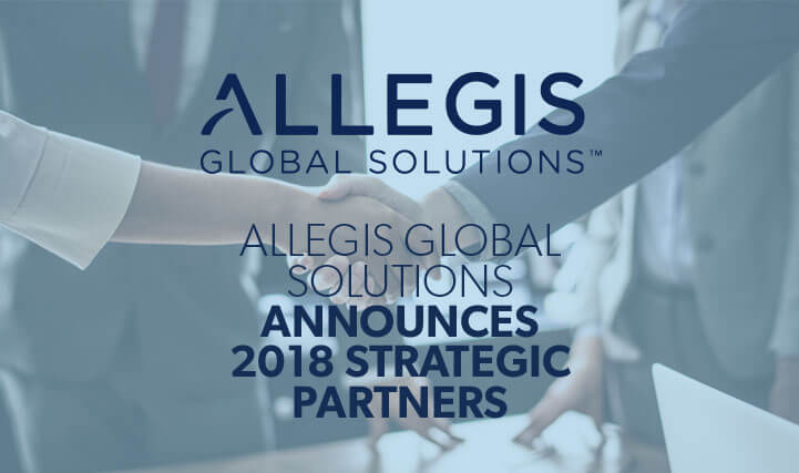 Professionals Shaking Hands - For Allegis Global Solutions Announces 2018 Strategic Partners.