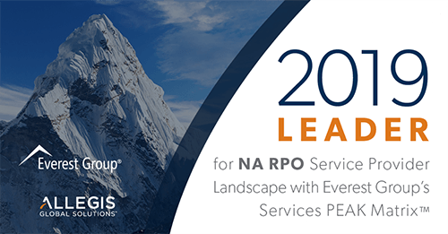 Allegis Global Solutions Named a Leader in Everest Group's 2019 North America RPO PEAK Matrix™ Assessment
