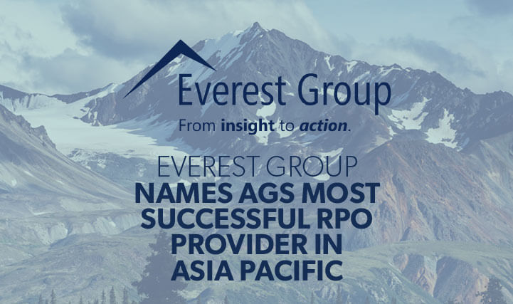 Mountain Peak - For Everest Group Names AGS Most Successful RPO Provider in Asia Pacific
