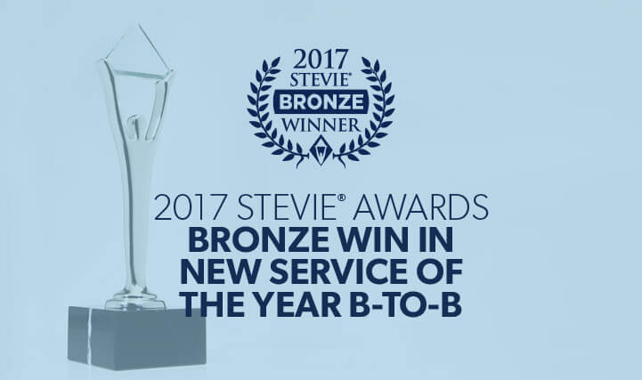 2017 Stevie Awards Bronze Win In New Service of The Years B-to-B.