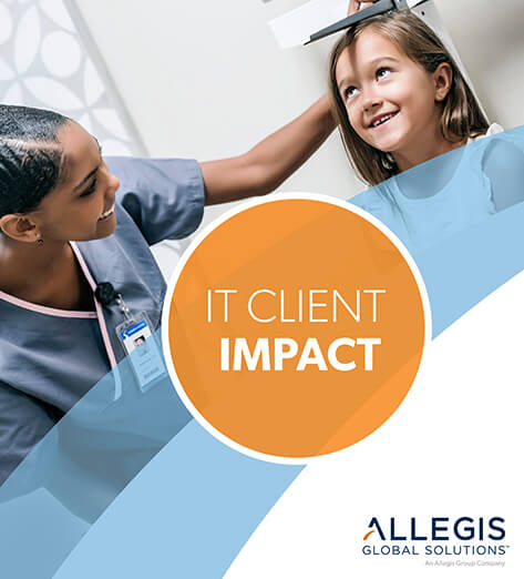 Nurse Measuring The Height Of A Young Girl - IT Client Impact
