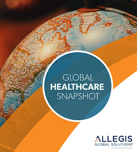 Close-up of Globe - For Global Healthcare Snapshot