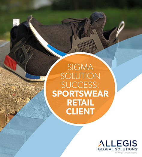 One Pair of Sneakers, Perched at top a Brick Wall - For Sigma Solution Success: Sportwear Retail Client.