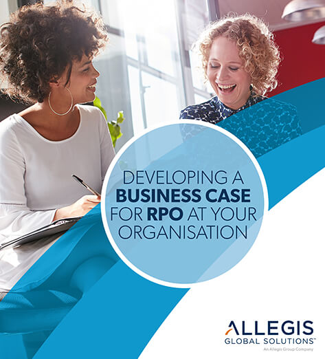 Two Ladies Laughing Together - For Developing Business Case RPO
